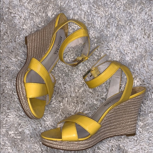 Micheal Kors Yellow Wedges